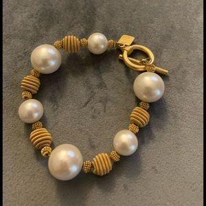 Anne Klein costume pearl bracelet